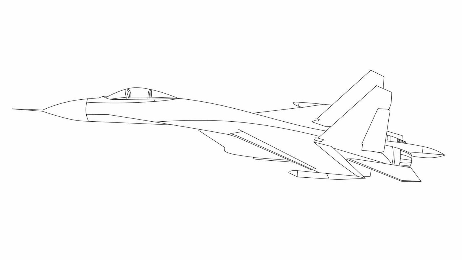 Koleksi Gambar Sketsa Pesawat Jet