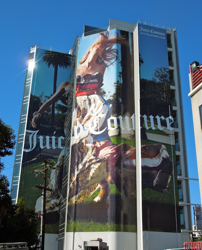 Giant Juicy Couture billboard