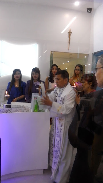 Store blessing with Reverend Fr. Errol Mananquil.
