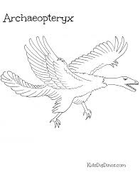 Archaeopteryx Dinosaur Coloring Pages With Name