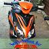 Sơn xe Yamaha Luvias màu cam đen cực đẹp [Luvias_SG2020]