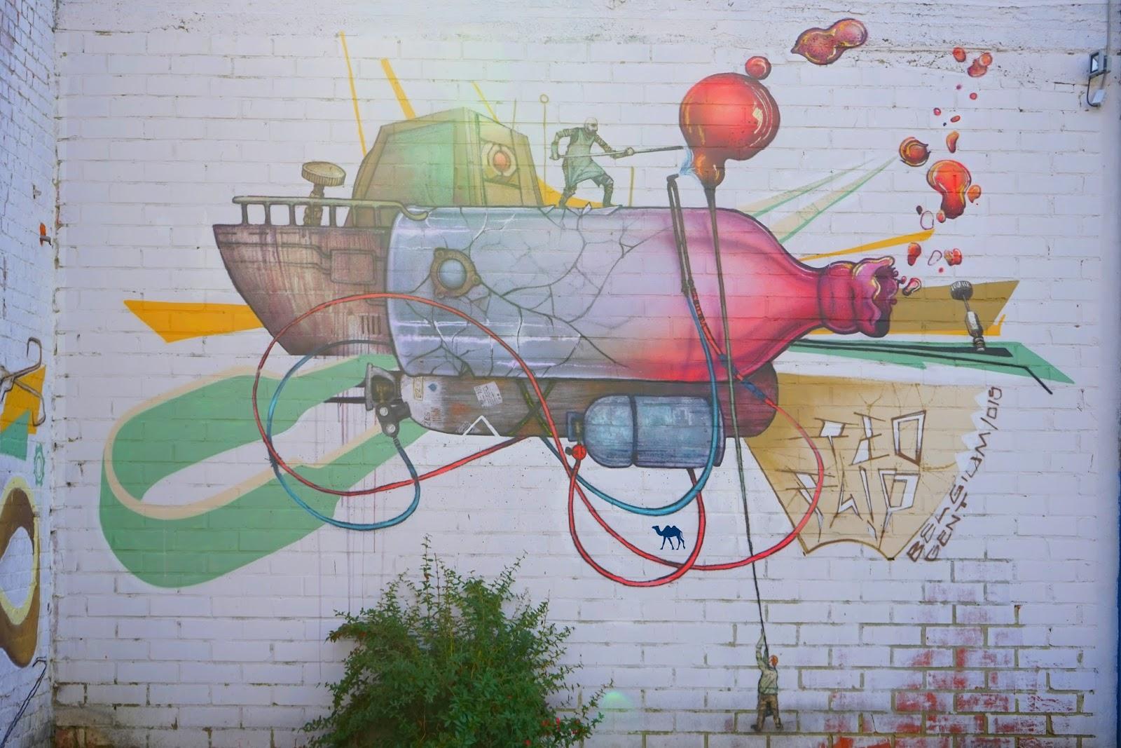 Le Chameau Bleu - Blog Voyage Gand Belgique - Gent Glas - Street art 3 - Chose à voir à Gand
