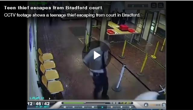 VIDEO: Watch as teenager flees Bradford courtroom