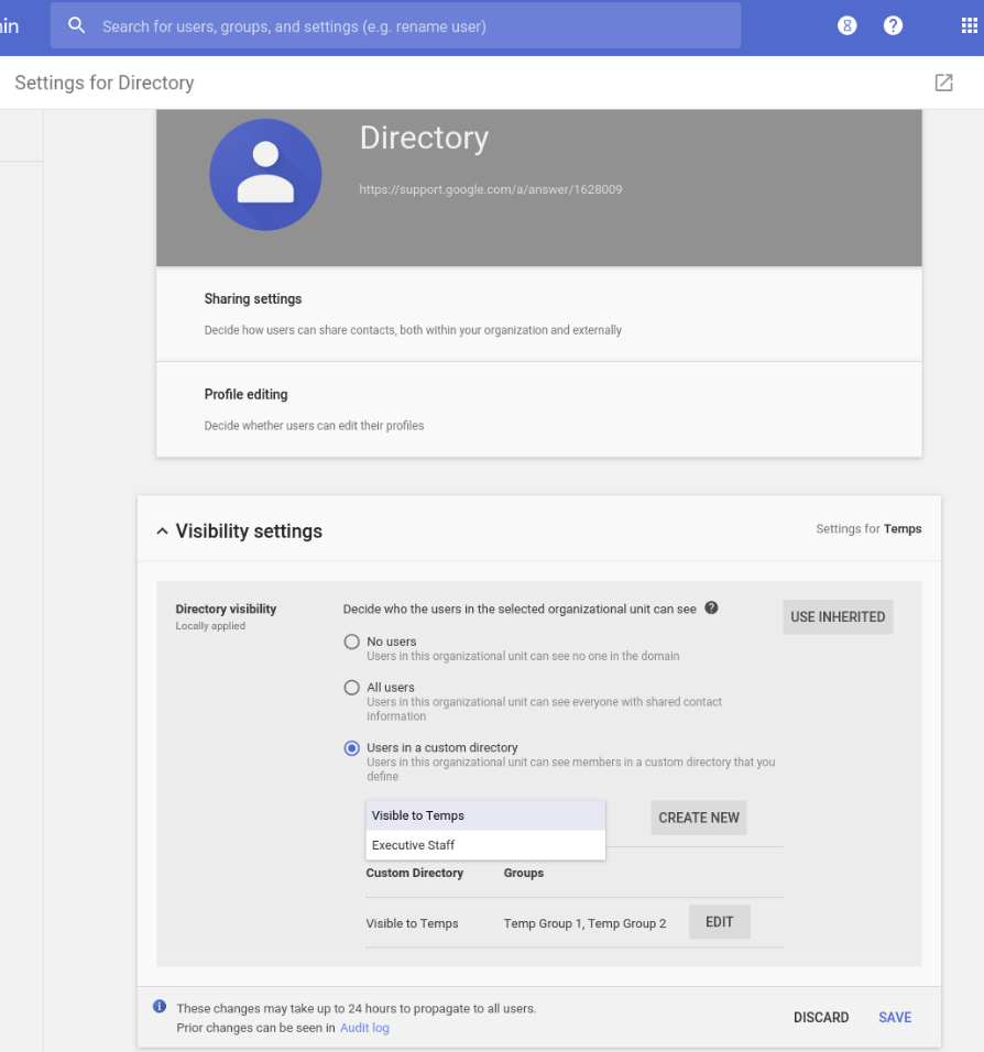 G Suite Updates Blog: Group users into multiple directories