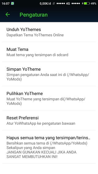 Yo WhatsApp Tema
