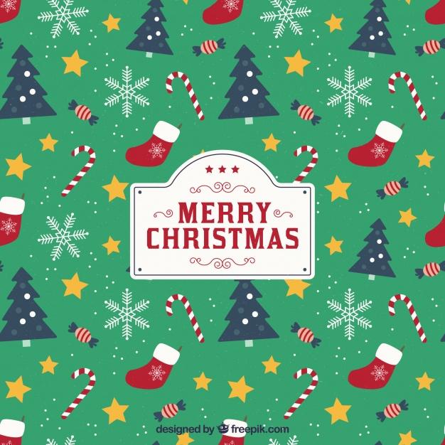 Christmas Vector Background Free.Christmas Background With Pattern Style Free Vector Vectorkh