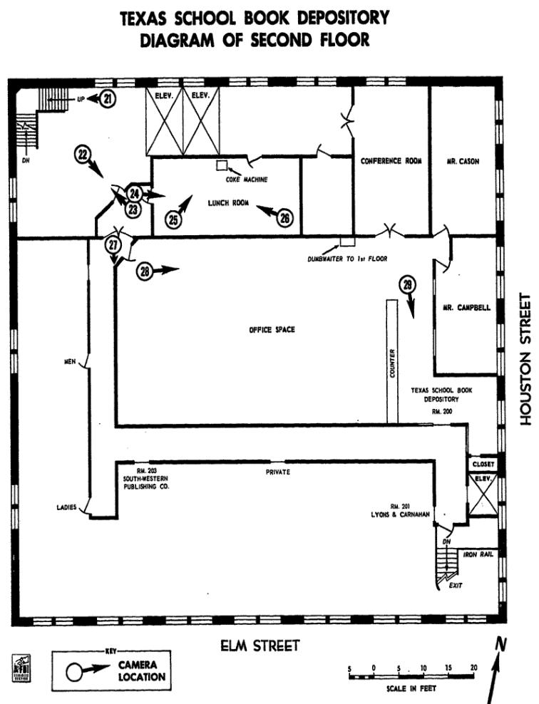 Dvp 39 s jfk archives the texas school book depository for Texas floor plans