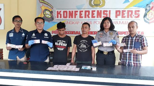 Dua Pelaku Pengedar Uang Palsu Di Bekuk Polisi