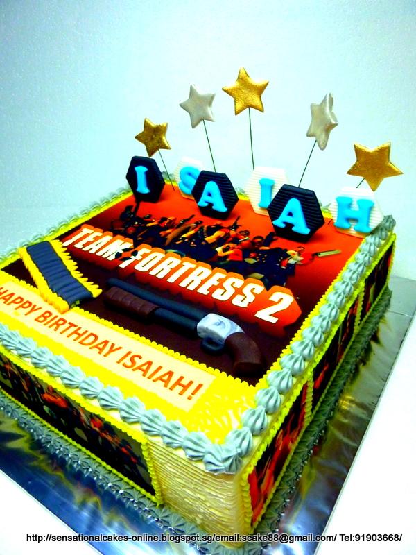 The Sensational Cakes Team Fortress 2 Cake Singapore 2d