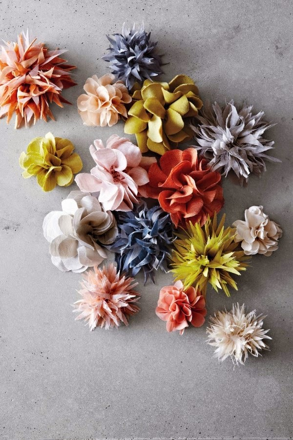 spesso Le Frufrù: Spille con i fiori di stoffa QZ73