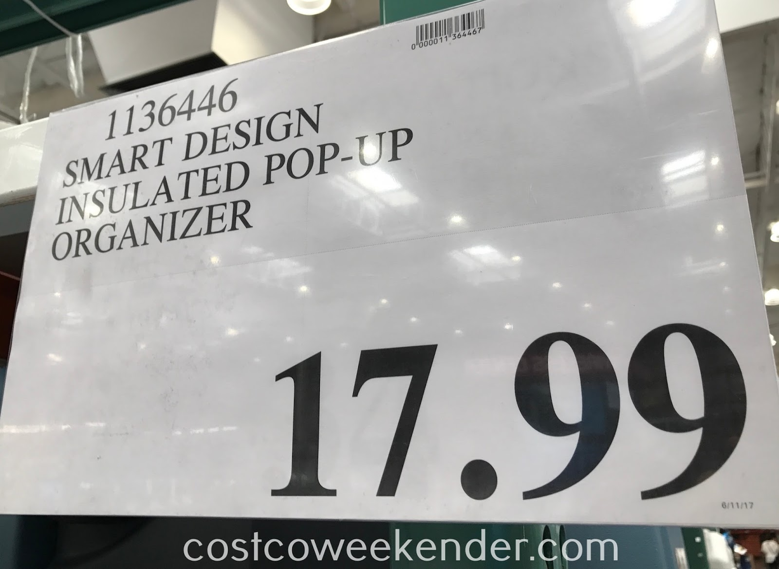 Deal for the Smart Design Pop-up Insulated Organizer at Costco