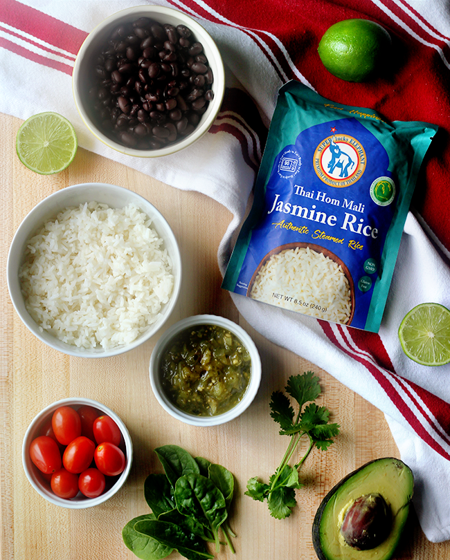 Jasmine Rice and Black Bean Burrito Bowls