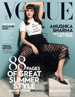 Anushka Sharma for Vogue India magazine March 2017