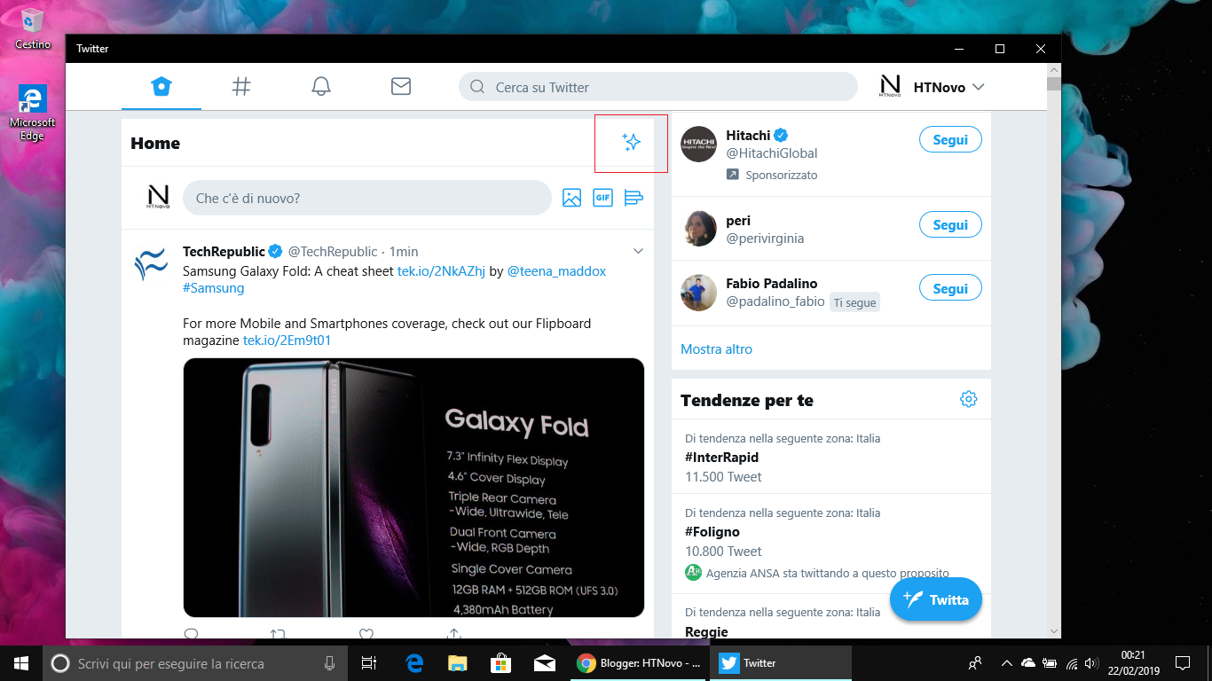 Twitter PWA per Windows 10 ottiene la visualizzazione degli ultimi