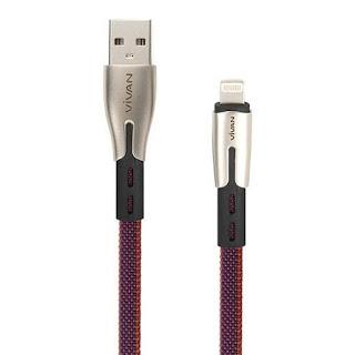 Vivan Kabel Data BTK-L Apple USB Cable Charger Lightning iPhone 100 cm