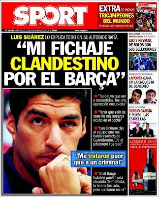 Portada Sport: Luis Suárez se confiesa