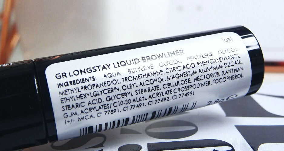 LONGSTAY LIQUID BROWNLINER  No.3 / GOLDEN ROSE, eyeliner do brwi, brwi idealne, jak malowac brwi