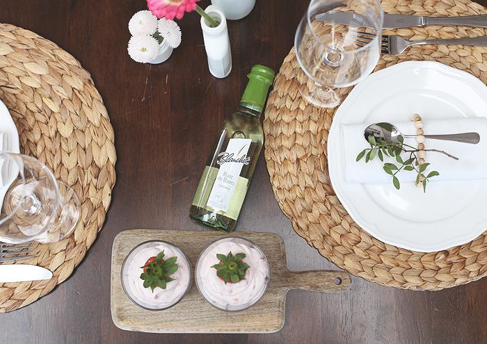 Tischdeko Serviettenring Blanchet Wein Vasen