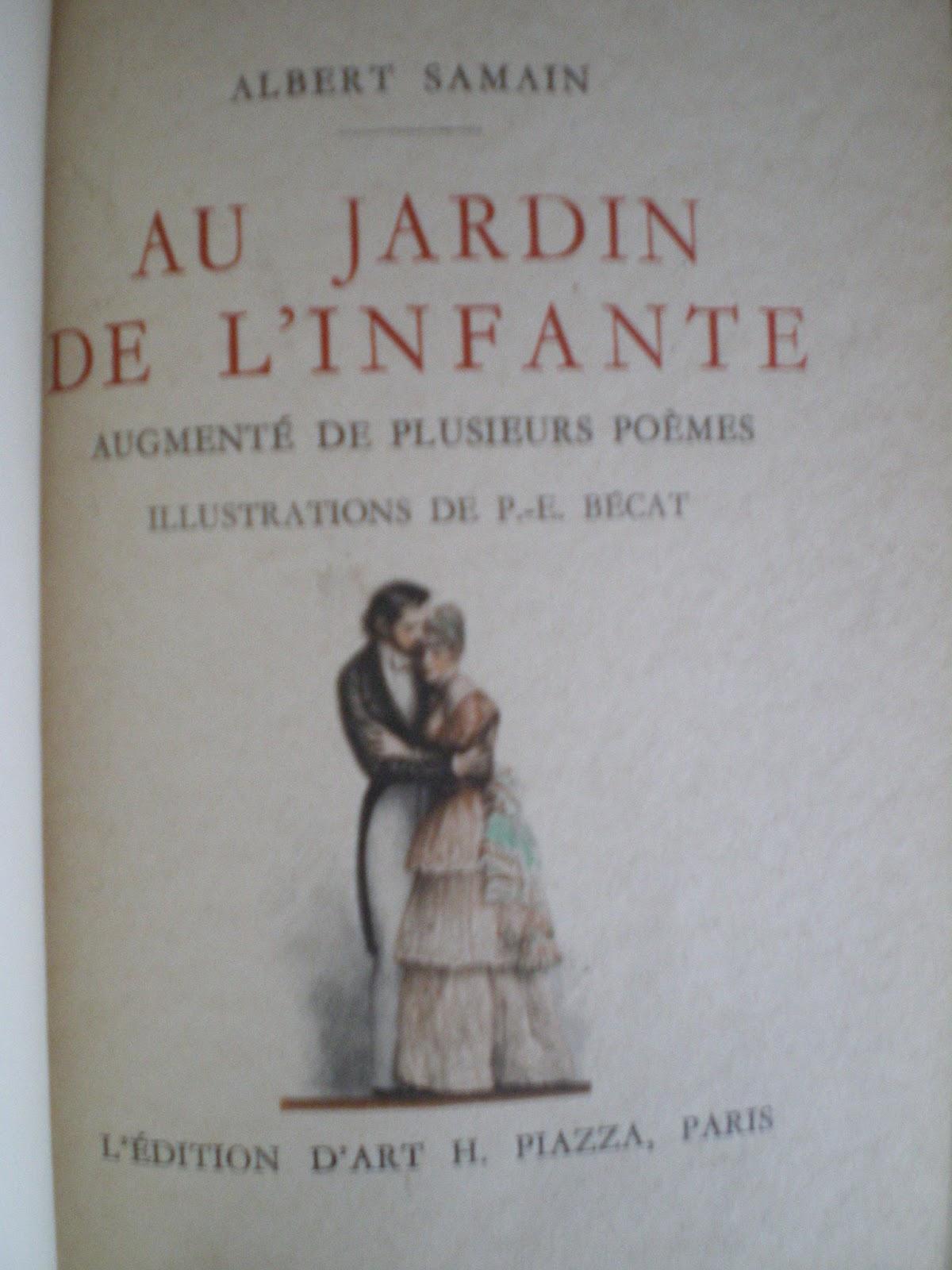 Librairie ancienne florence velk lorient samain albert for Au jardin de l infante samain