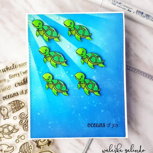 Sunny Studio Stamps: Oceans of Joy Customer Card Share by Waleksa Galindo