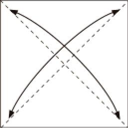Bước 1: Gấp tờ giấy lại làm bốn để tạo nếp gấp sau đó lại mở ra