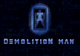 Demolition Man title screen genesis mega drive