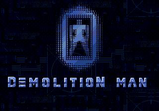 Demolition Man title screen genesis mega drive