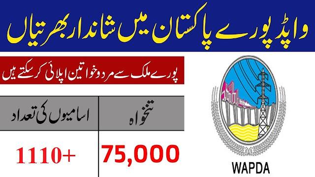 1110+Vacancy in WAPDA Jobs 2020 Apply Online