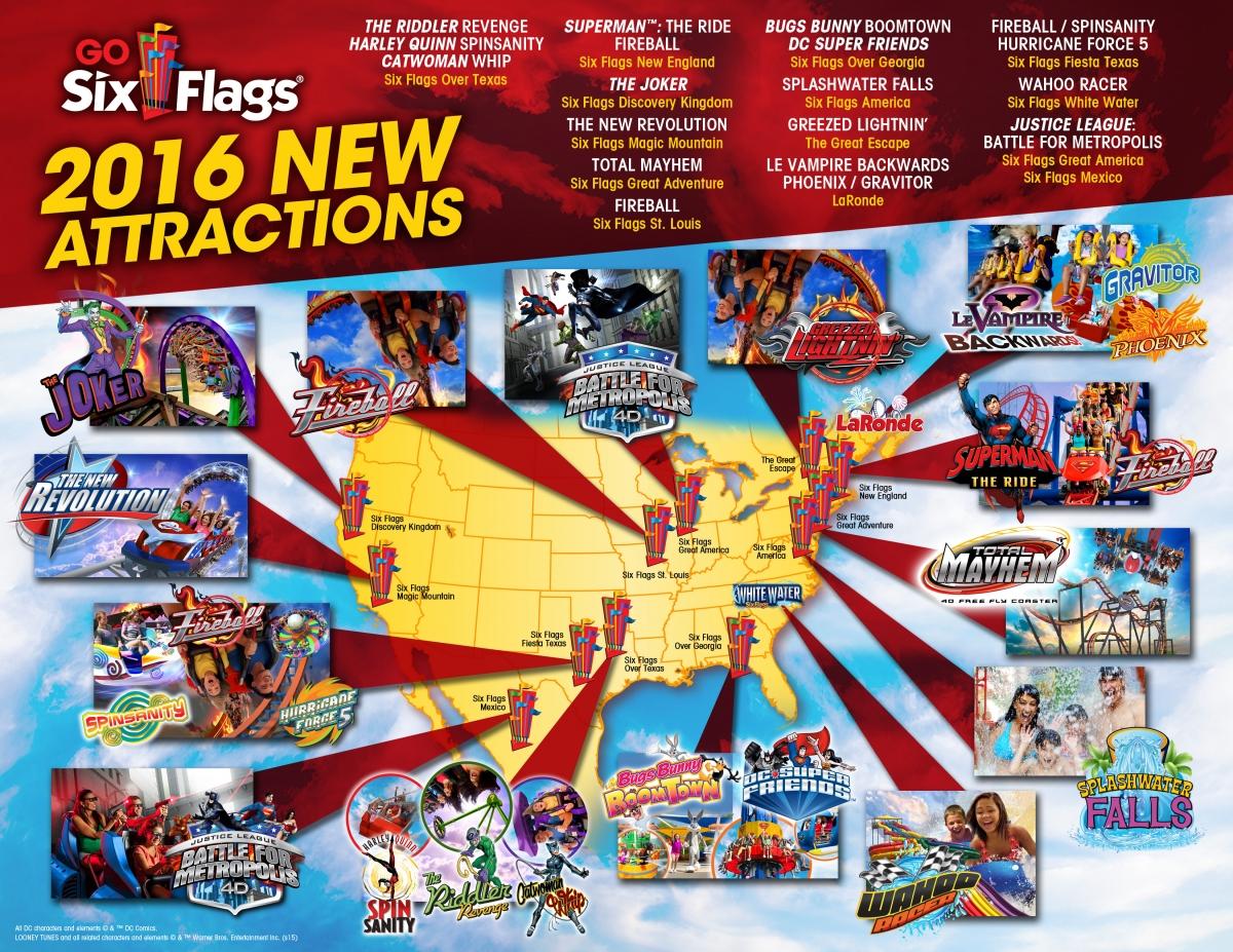Six Flags 2016 Capital Map 2016 Capital Expenditures