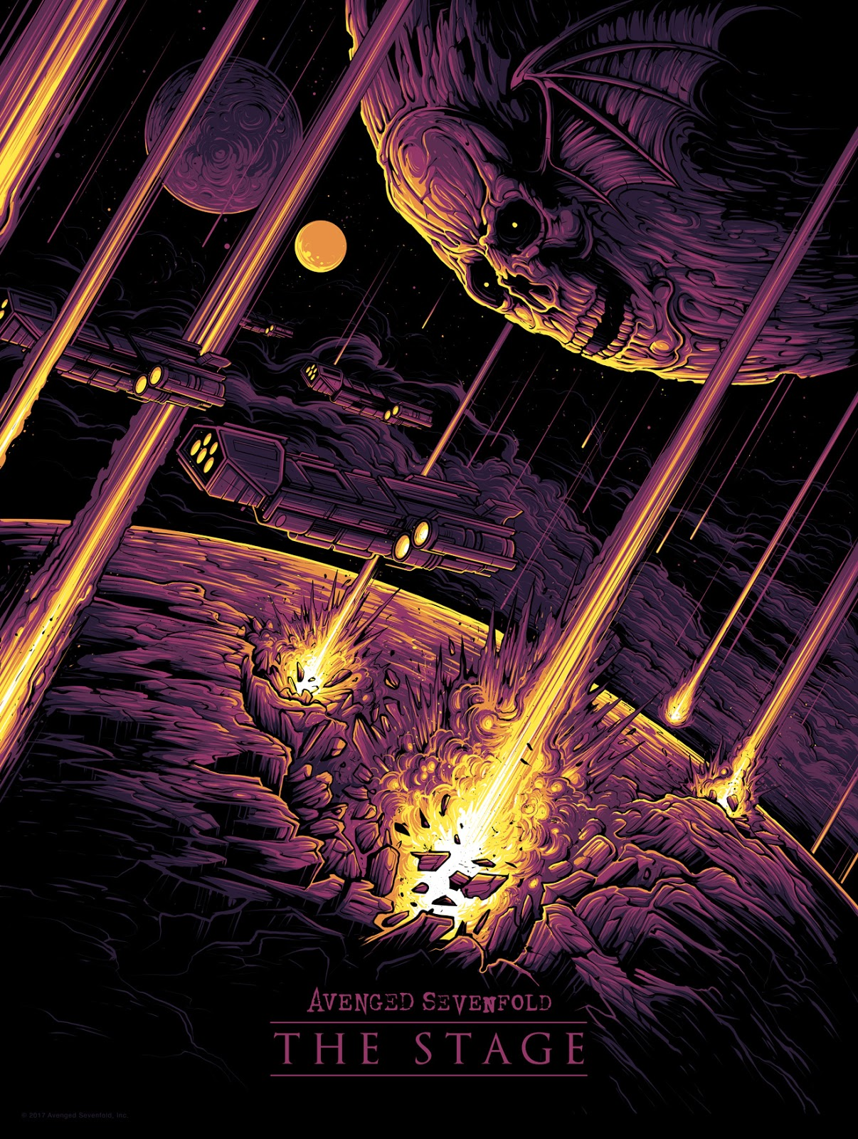 Dan Mumford The Stage Avenged Sevenfold Poster Release Exclusive First Look