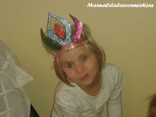 Corona de la reina de hielo con glitters