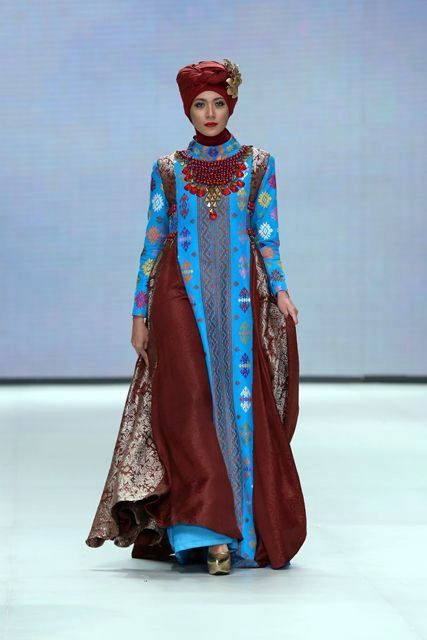 Model Baju Batik Remaja Putri Muslim Lengan Panjang Terbaru