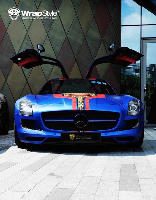 スーパーカー ラッピング メルセデスベンツSLS AMG