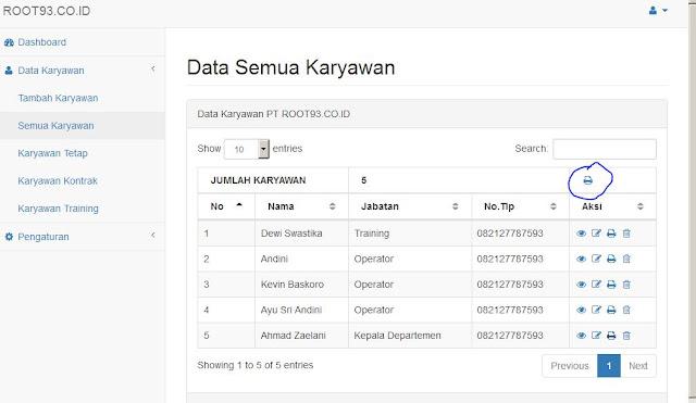 print semua data