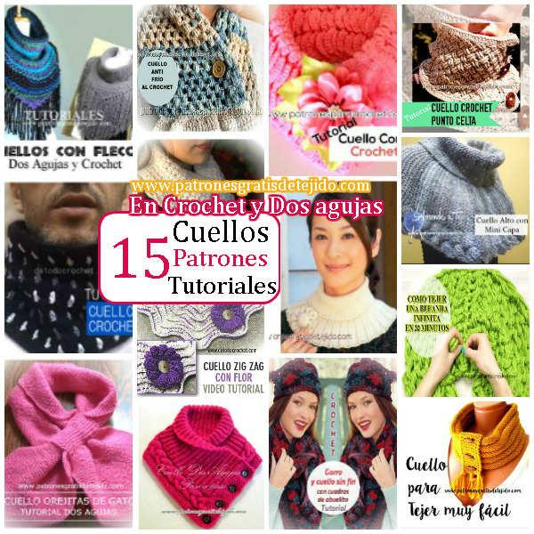 15 Cuellos de Abrigo Para Tejer / Colección | Crochet y Dos agujas ...