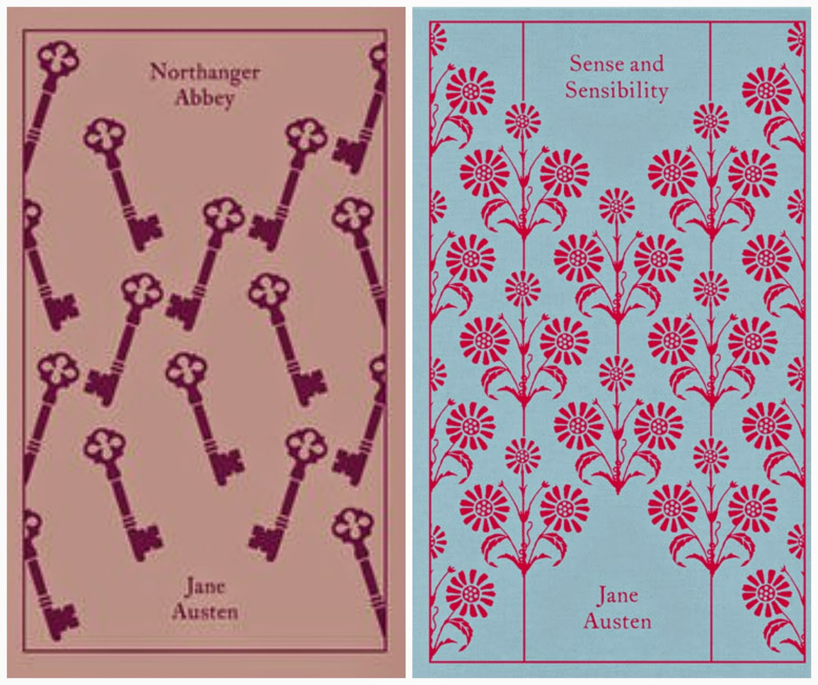 Northanger Abbey and Sense & Sensibility Book Covers
