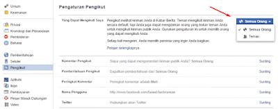 setting pengikut di facebook