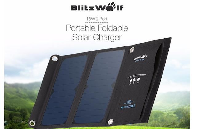 BlitzWolf portable Foldable Solar Charger