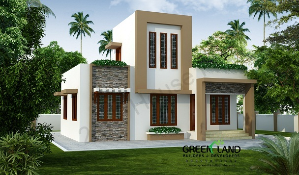 843 SQ Ft 2 Bedroom Budget Kerala Home Plan