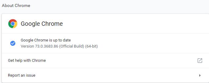 Google Chrome 73.0.3683.86