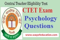 Psychology Questions For CTET Exam