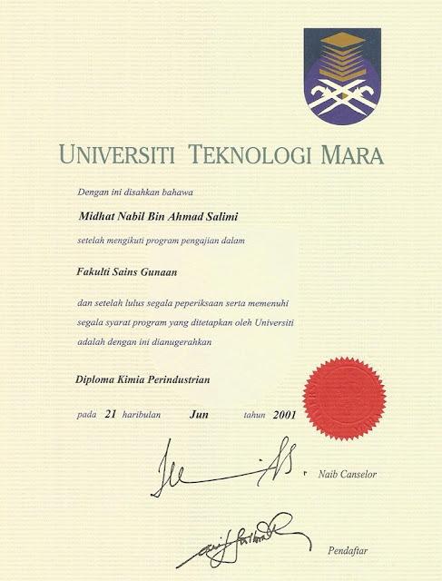 Diploma Dr Midhat Nabil