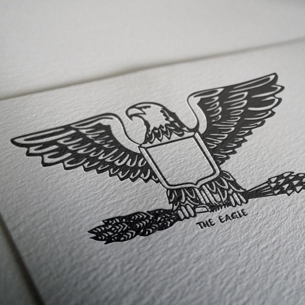 Logo Mockup With Emboss Logo: Logo Mockup