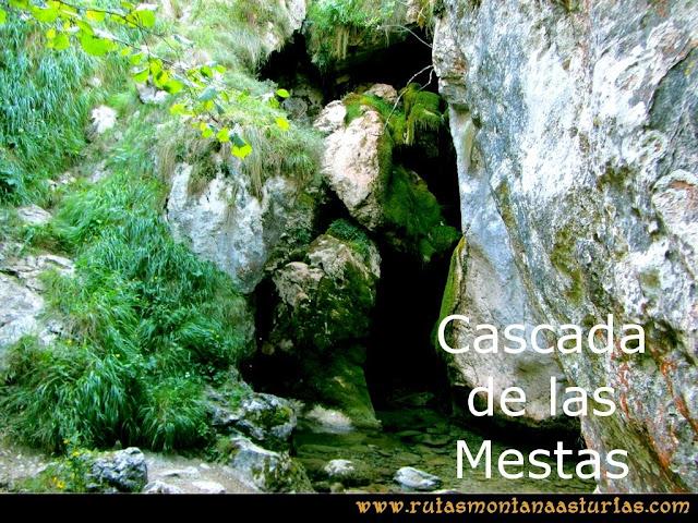 Ruta Poncebos a Cabrones por Camburero y Urriellu: Cascada de las Mestas