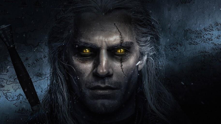 Geralt, The Witcher, Henry Cavill, Netflix, 4K, #7.734