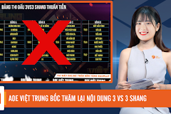 Bản tin AoE ngày 12/1: AOE Việt Trung bốc thăm lại nội dung 3vs3 Shang, BiBi luyện tập kèo cung R