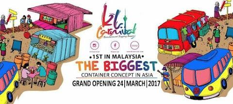 Bazaar Berkonsep Kontena di KL Carnival Bukit Jalil