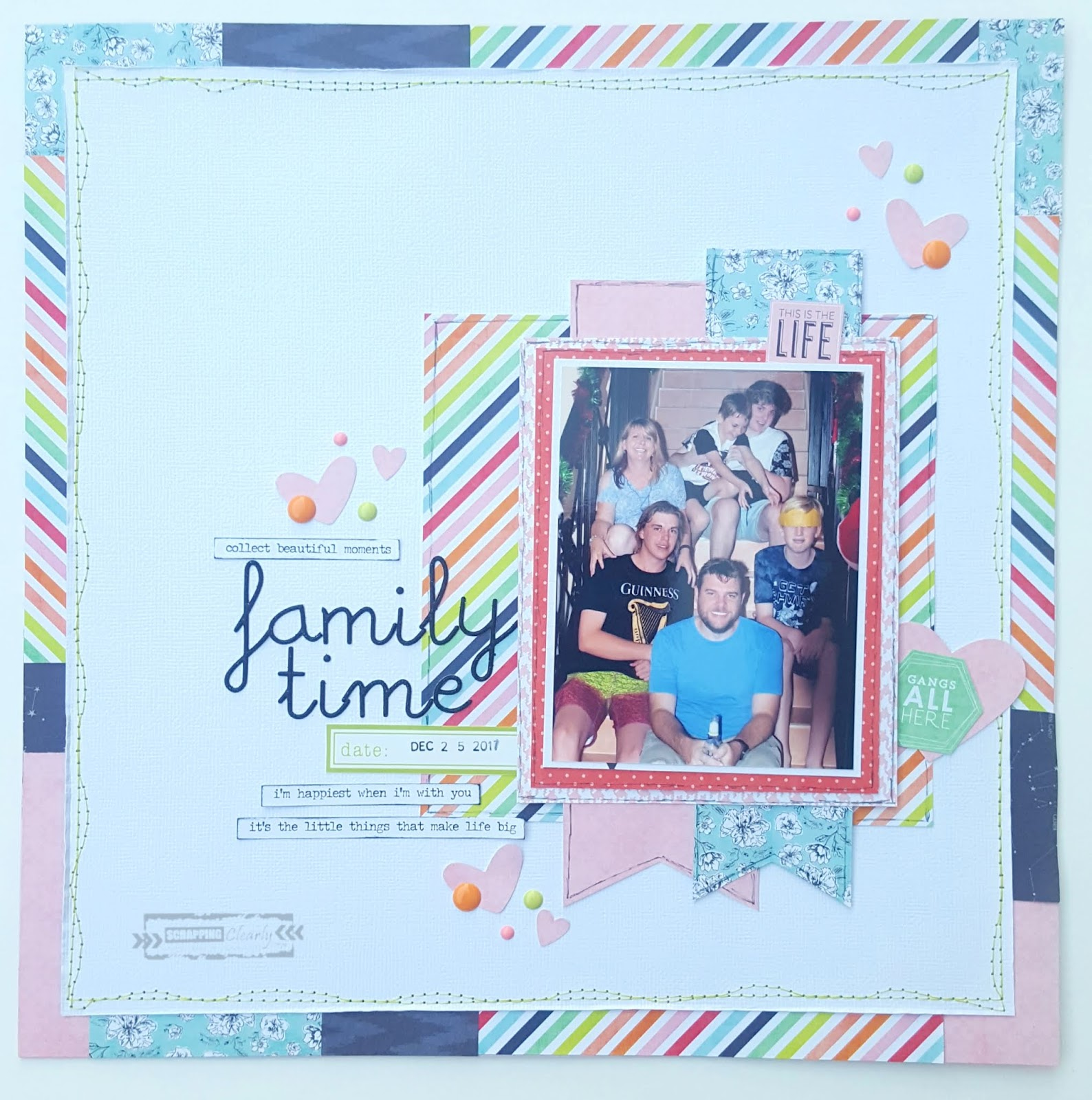 Scrappingclearly Scrapbooking And Papercrafts Family Time A