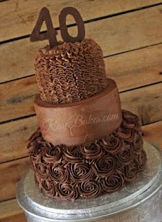 kue ultah coklat 2 tingkat