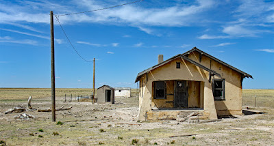 abandoned homestead Roosevelt County New Mexico